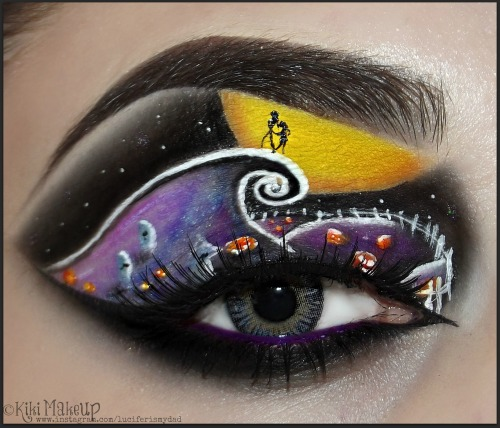 kikimakeup:  My latest look; Tim Burton's The Nightmare Before Christmas. For additional information on this look visit my Facebook and Instagram Kiki xo