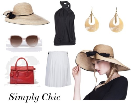 Simply Chic by modewalk featuring a winter white skirtEvening top / J.W. Anderson winter white skirt / Rochas zippered tote bag / Gold jewelry / Inverni / Emmanuelle Khanh