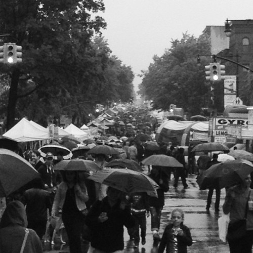 Weather might stop GoogaMooga, but it won't stop the street fair. #brooklyn