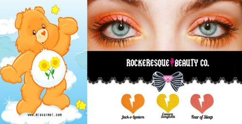 rockeresquebeautycompany:  We love this carebear inspired look by Miss Hannah Bloodbunny.https://www.facebook.com/officialhannahbloodbunny