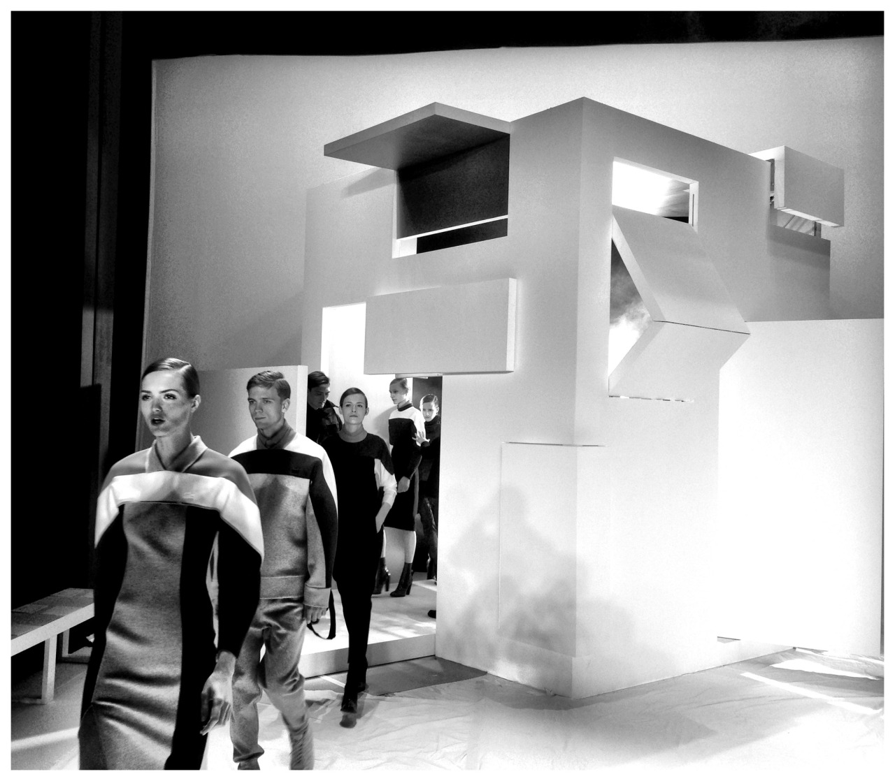 bureaubetak:  Lacoste RTW FW13  Lincoln Center  Saturday February 9th 2013  Produced and designed by Bureau Betak  Photos by Alexandre de Betak