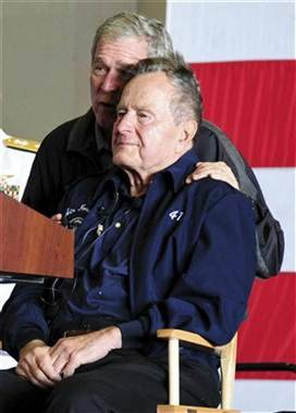 Former President George H.W. Bush to stay in hospital longer (Photo: Handout / Reuters) Former President George H.W. Bush, who has been hospitalized for a month undergoing treatment for bronchitis, may not be released from a Houston hospital in time to celebrate Christmas at home as doctors had hoped. Read the complete story.