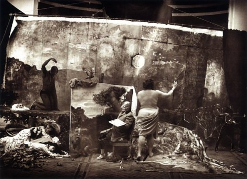 cavetocanvas:  Joel-Peter Witkin, Studio of the Painter (Courbet), Paris, 1990
