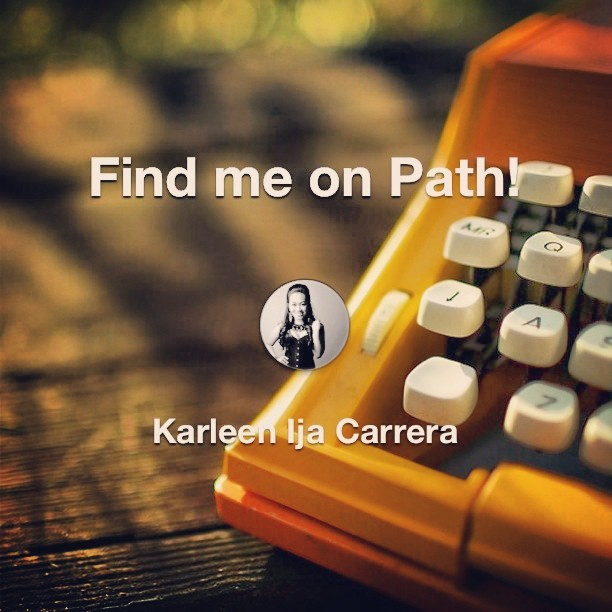 Find me on #Path! #mushroomkaboom #instagram #instagood #friends #social #socialnetwork #virtuallife #life #connect #connection #ig #iger #igersmanila #igers