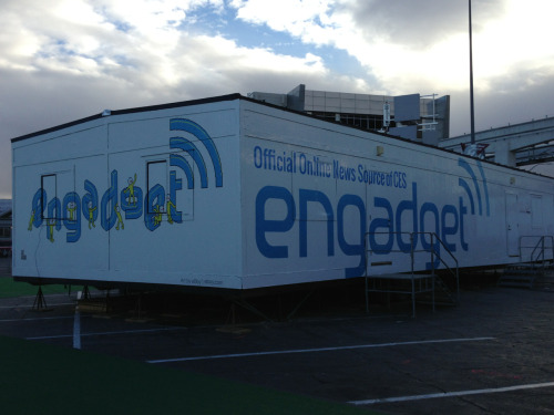 One last shot of the mighty Engadget doublewide before we depart. Hope you folks loved the coverage all week! Incredibly proud of the team and all of our hard work this week. A huge thanks to fearless leader Tim Stevens for everything!