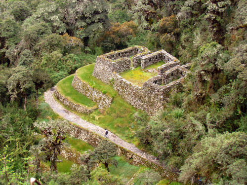 "ancientart:  Conchamarka (""cooking stove spot"") tambo along Inca Trail to the archaeological site of Machu Picchu, Peru. Photo courtesy & taken by D. Gordon E. Robertson"
