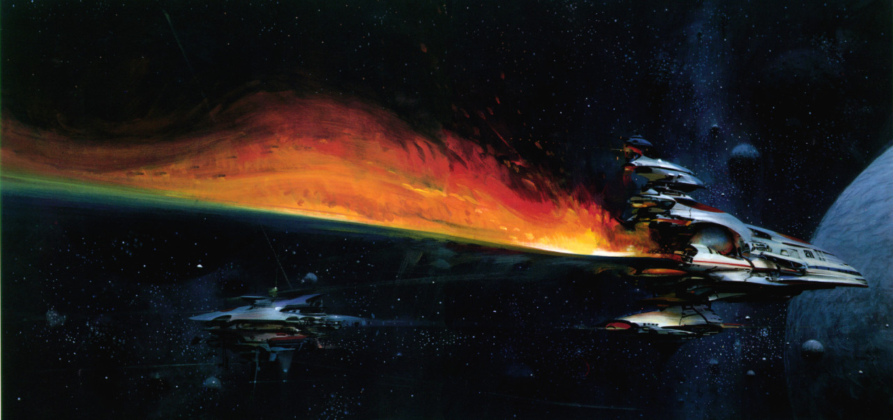 Cover art from Nat. Geo.'s Our Universe by John Berkey