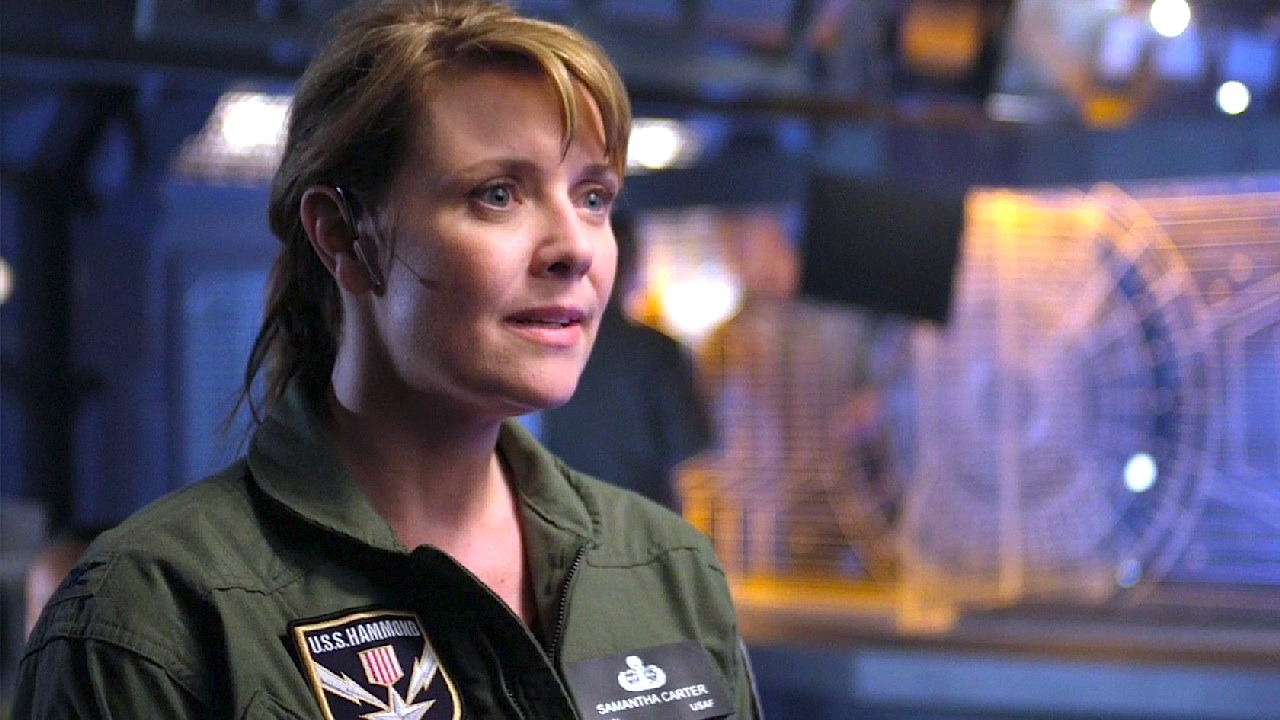 Colonel Samantha Carter, commander of the Daedalus-class battlecruiser USS Hammond