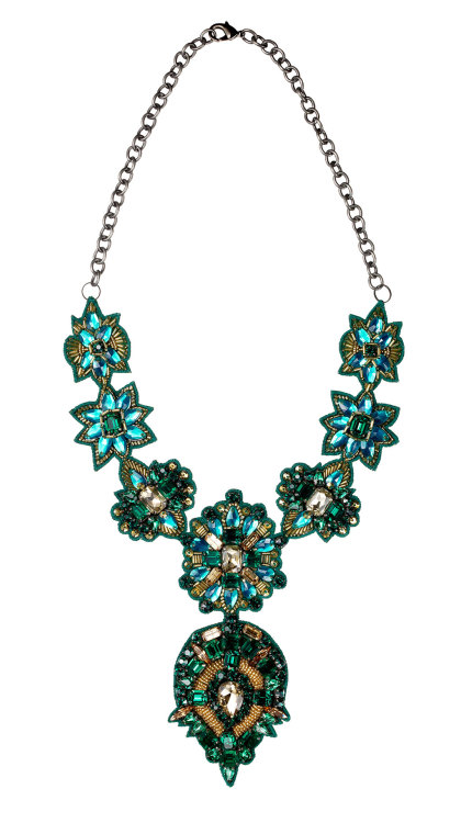 The Best Gifts and Souvenirs from Asia | Green Statement Necklace from Bungalow 8 in Mumbai, India
