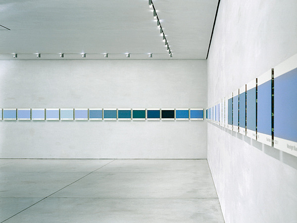 ephemeralol:   Peter Wegner BLUES82 units installed on four wallsNew York NY1998
