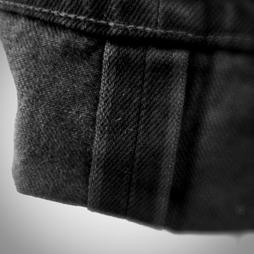Cone White Oak 13.25 oz selvage. Denim made from black & white yarn - we garment dyed the jeans black…now they're BLACK. Ladbroke & Mellor fits #madeinsanfrancisco #dyedinmarincounty