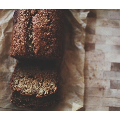 in case you missed it: my favorite dark brown sugar banana bread on the blog. #thefreckledpie #bake