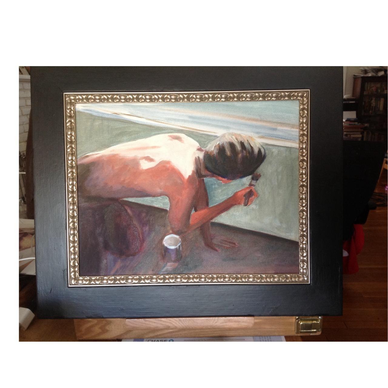 "Refurbished thrift store frame $2:00 oil on canvas board 14""x11"" ""The painter Denmark "" Pete bridgstock #artistsontumblr"