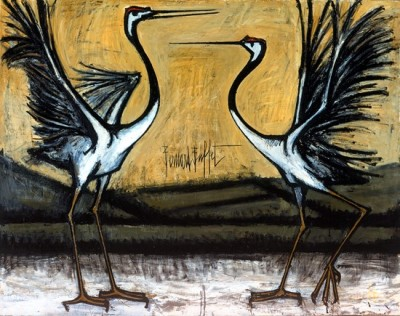cavetocanvas:  Bernard Buffet, Two Fighting Birds, 1981
