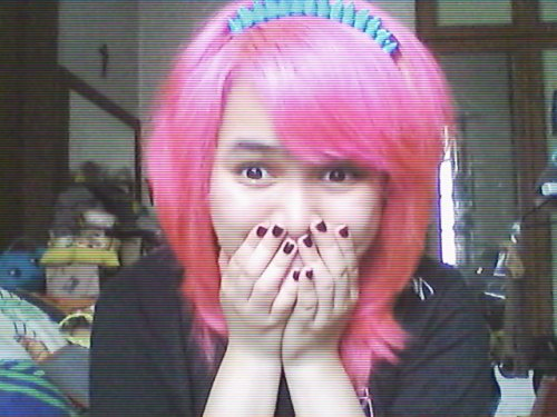 """Finally dyed my hair pink and styled it the scene way!"" Pink's my favorite, thanks for the submission! :)"