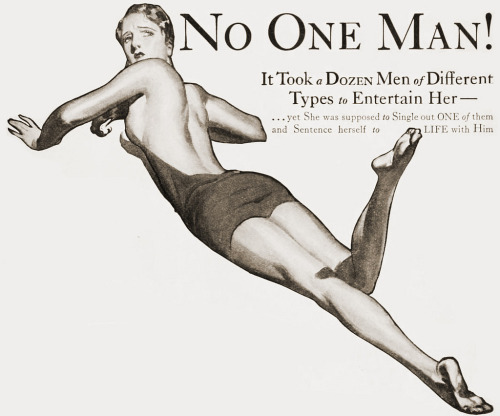 no one man cosmopolitan magazine 1930 (by Captain Geoffrey Spaulding)