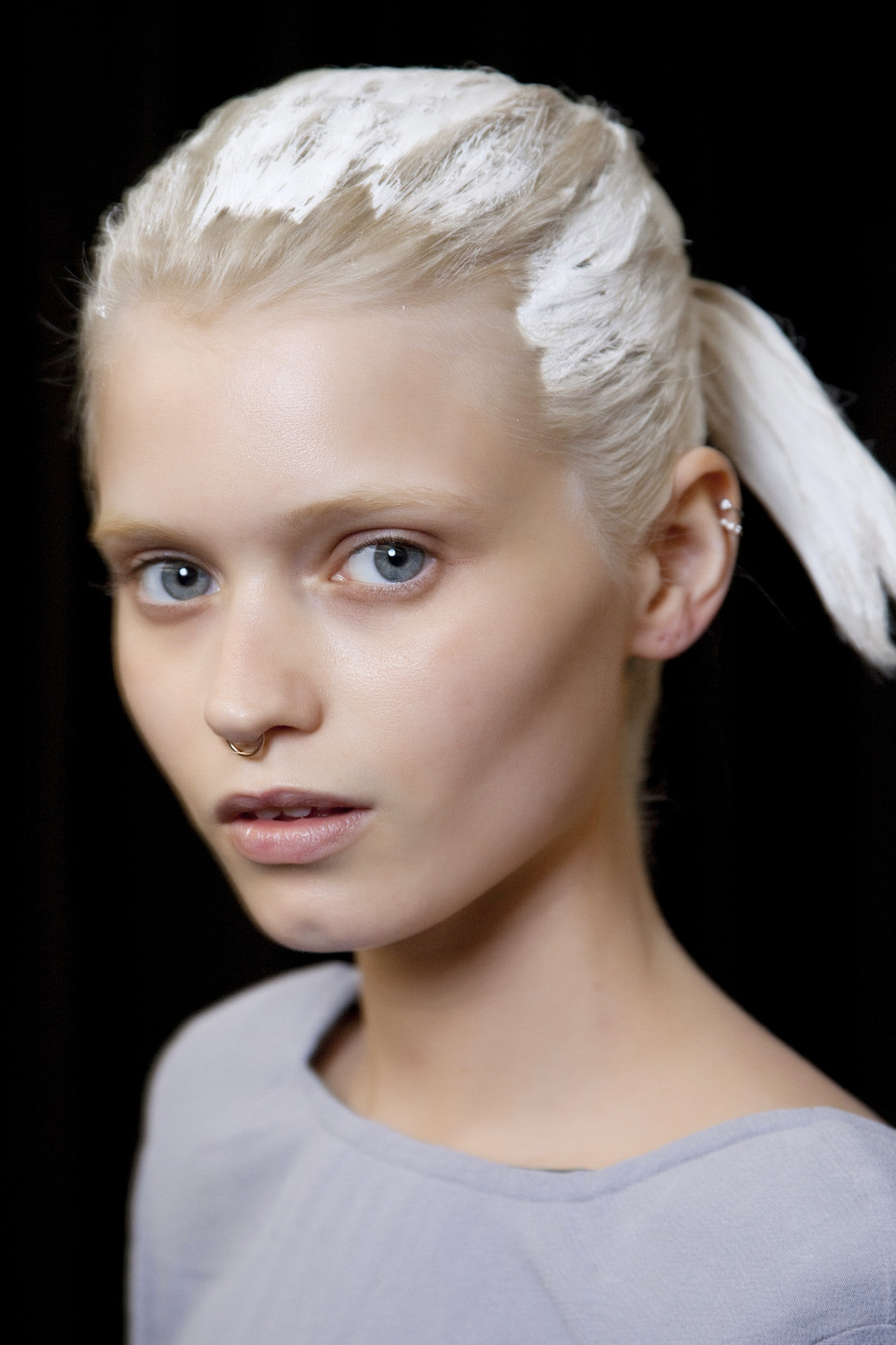 fashioninquality:  Abbey Lee Kershaw backstage at Alexander Wang Spring/Summer 2011 | NYFW
