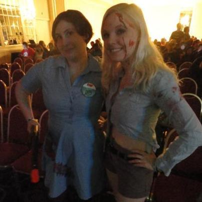 A great picture of my friend Megan and I at the Bruce Campbell panel on Saturday. :)