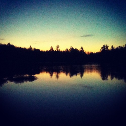Sunrise at the pond this morning (at Chapman Pond)