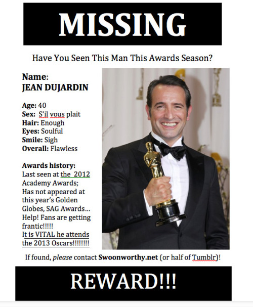 Missing This Awards Season: Jean Dujardin