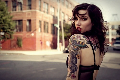 itsclaranotcarla:  tattooed women | Tumblr on @weheartit.com - http://whrt.it/11dJHOE