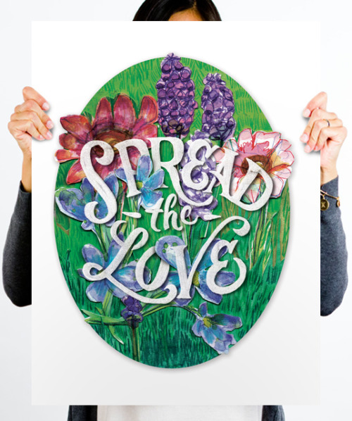 helpink:  Spread The Love by Zack Davenport & Emily Daingerfield for Help Ink. Buy it here.
