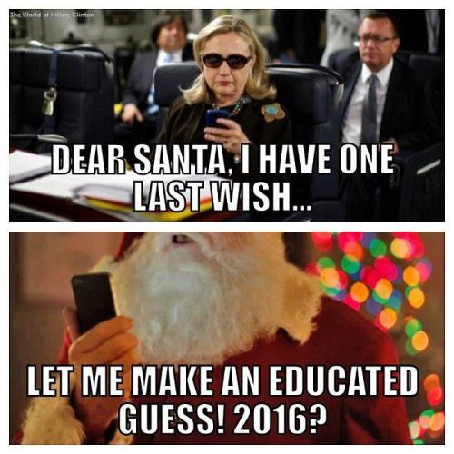 December 25, 2012 | Hillary CLINTON | SANTA Claus
