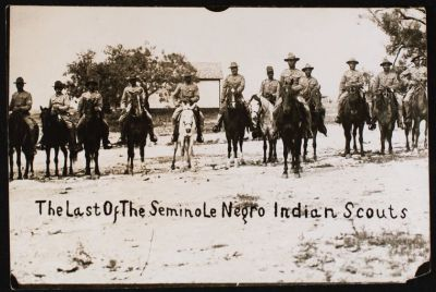 gunsandposes:  Black Seminole scouts on horseback, circa 1913/1914. Courtesy of the New York Public Library.