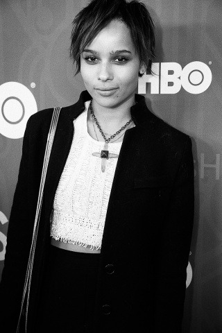 Zoe Kravitz at the premiere of HBO's Girls sporting our Crystal Cross Necklace  available here : http://bit.ly/13k6TOa