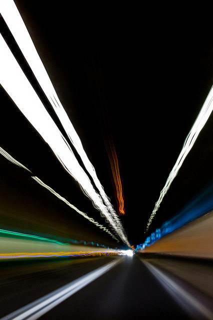Tunnel Abstract, December 2012. On our way home, back from winter holidays.