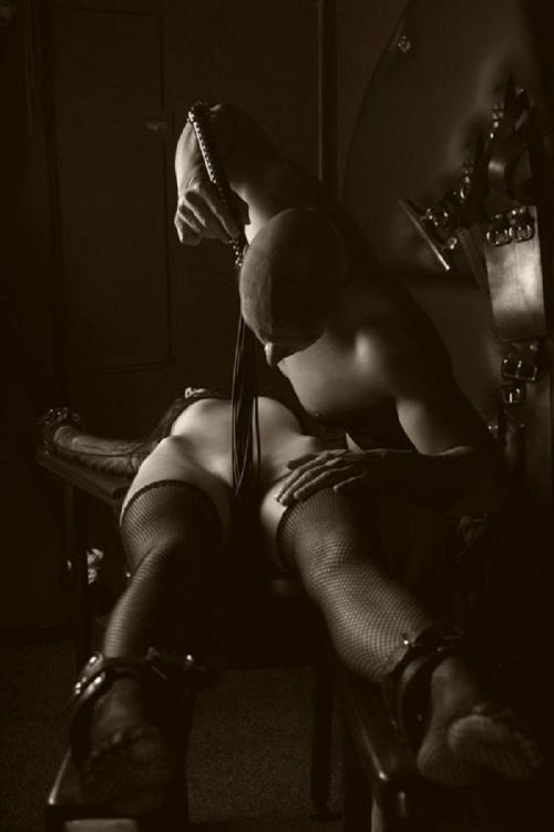 afilthymind:  ~ There's something deliciously erotic about running a flogger like a snake around its prey, teasing every single nerve, taking her on a journey of sensation and pleasure ~
