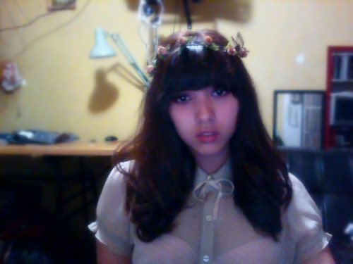 testing hair stuff for tomorrow idk i feel like a wood fairy or smth