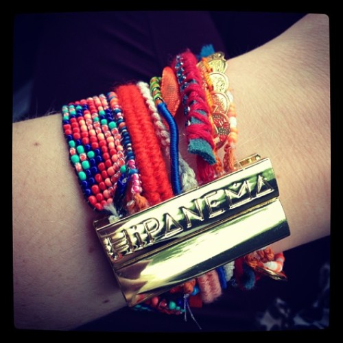 Thank you bros #hipanema bracelet for b-day @antsimon