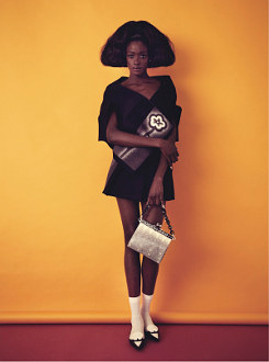 """Une Femme Est Une Femme"" Alima Fofana, Awa Ceesay, and Stella Vaudran photographed by Sofia Sanchez and Mauro Mongiello, and styled by Samuel François for Lula #16 S/S 2013"