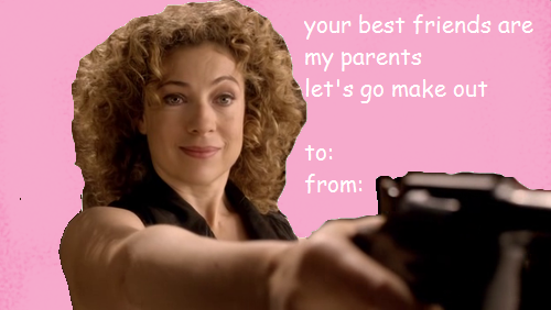 Your best friends are my parents let's go make out. Doctor Who Valentines