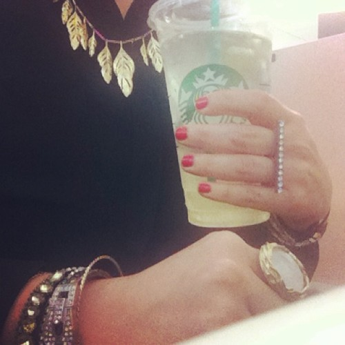 Afternoon refreshment #instadrink #Starbucks #worksucks #jewelry #fashion #ottd #bling #losangeles #instagood #photooftheday  (at Corporate Hell)