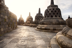 Borobudur, a Buddhist temple in Java, Indonesia