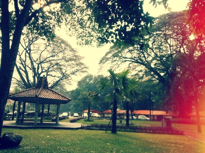 Afternoon breeze and we picnicked at the city park…I Love Bandung