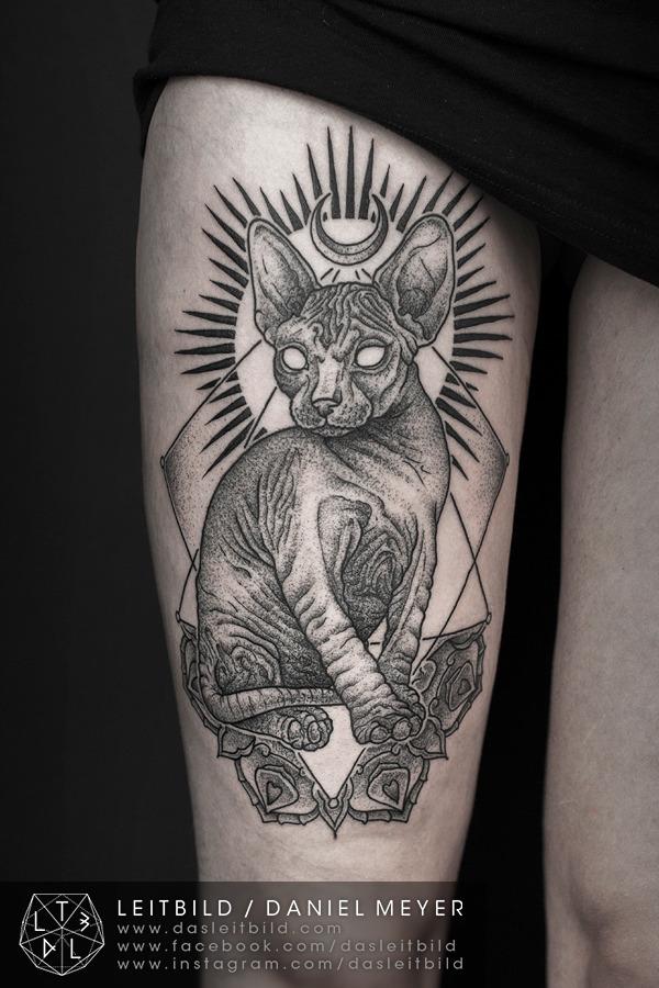 fuckyeahtattoos:  Sphynx cat byDaniel MeyerviaLEITBILDwww.dasleitbild.comwww.leitbild.tumblr.comwww.facebook.com/dasleitbildwww.instagram.com/dasleitbild