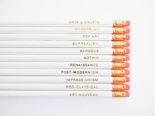 etsy:  Art Movements Pencils by AmandaCatherineDes.