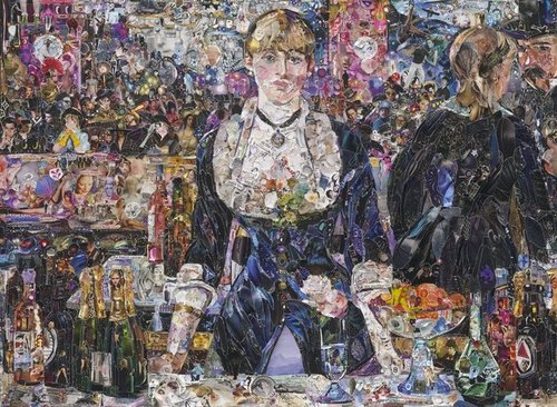 A Bar at the Folies-Bergère, after Edouard Manet, 2012 - Vik Muniz - Ben Brown Fine Arts