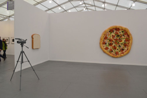 therealjimricks:  Untitled (Pizza), Tom Friedman, 2013