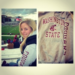 "I got this sweatshirt my junior year of high school while visiting Pullman and oh the places it has taken me. I can't imagine having a better college experience than the one I had at WSU. I have met some of my best friends for life, learned a whole lot, and grown so much as a person. Now as I go into the ""real world"", I will wear this sweatshirt (and my entire closet full of Cougar gear) with pride. #gocougs (at Washington State University)"