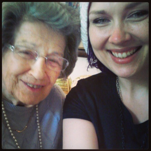 biddypunk:  Me and grandma :) #me  <3
