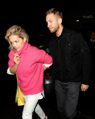 Rita Ora + her new boyfriend CalvinHarris  were spottedtogether for the first timeout + about in London on Monday.