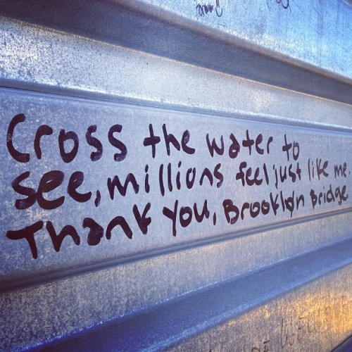 Bridge poetry #libznyc  (at Brooklyn Bridge)