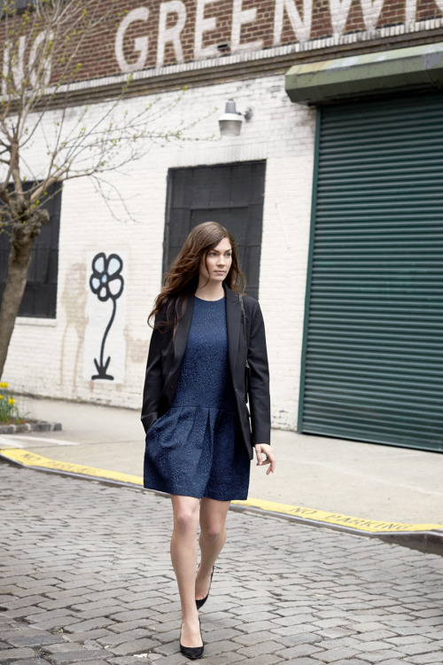 clubmonaco-pressroom:  September - Look 4 Claudia Blazer, Raquel Dress, April Pump