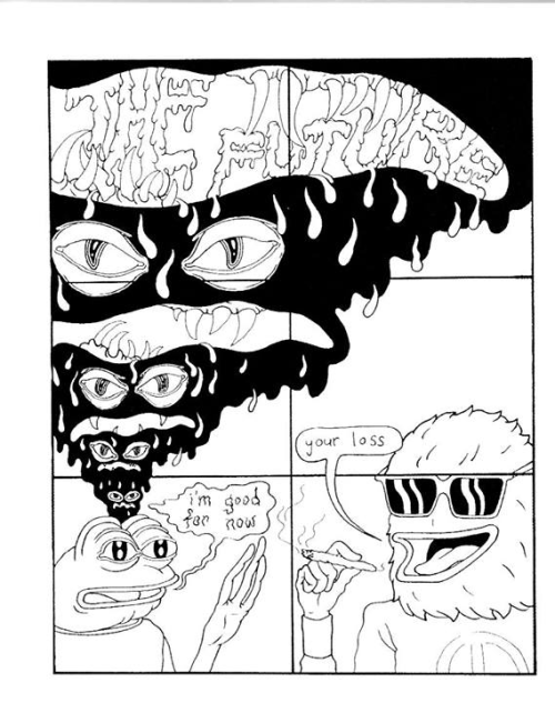 Boy's Club by Matt Furie  (One of my favorite pages.)