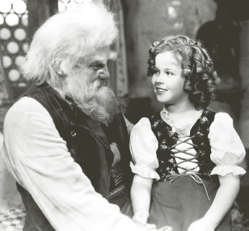 Jean Hersholt and Shirley Temple in Heidi, 1937.