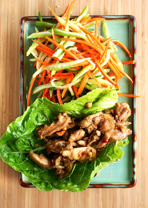 notanotherhealthyfoodblog:  Asian Lettuce Wraps for Almost Meatless Potluck  click here for recipe